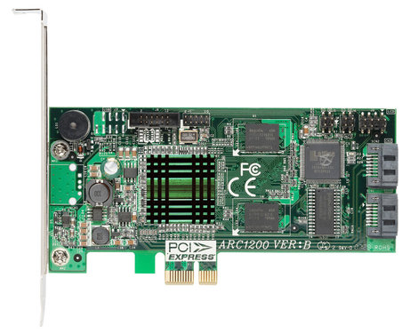 Areca ARC-1200 2x Port PCIe to SATA II RAID-Controller (0, 1, JBOD), 2xsATA, PCI-E1