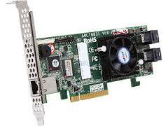 Areca ARC-1883i 8x port (SFF-8643) 12Gb/s SAS RAID, 2GB DDR3, PCIe x8 Card, LP