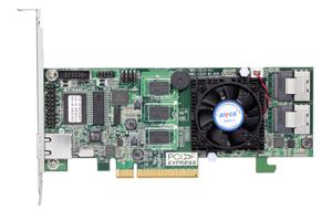 Areca1213-4x(LSI2108) SAS2RAID(0/1/5/6/10/50/60) 1×8088,512MB,PCI-E8 g2,LP
