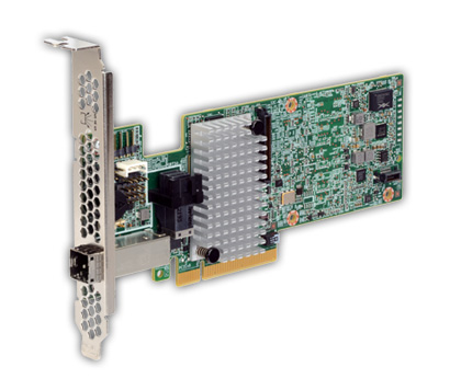 Broadcom LSI MegaRAID SAS 9380-4i4e, 12Gb/s, SAS/SATA 4-por int., 4-port ext, 1GB, RAID 0, 1, 5, 6, 10, 50, 60, PCI-E 3.