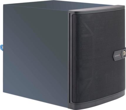 """CSE-721TQ-250B - SUPERMICRO Mini-Tower 4x 3,5"""" HS SATA HDD + 2x Internal 2,5"""" SATA HDD,1x LP slot, 2"""