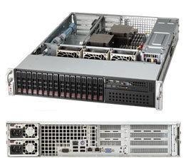 """SC213A-R740W 2U WIO 16SFF(4×SFF-8087),5,25"""",slimCD,WIO,rPS 700W (80+PLATINUM),black"""