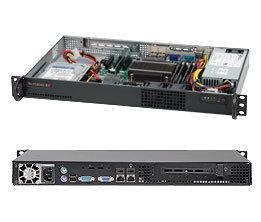 """SC510L-200B mini1U 9,6""""x9,6"""" 65Wcpu,2SFF,200W(80+),1PCI,noCD,černé"""