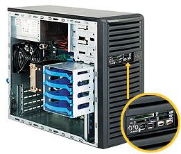 "SC731D-300 miditower, 9,6""x9,6"" silent (25dB) zdroj 300W(80+),front card reader,black"