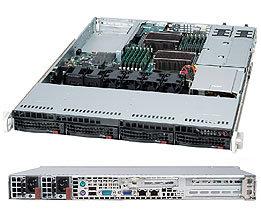 SC815TQ-R500U 1U UIO 4sATA/SAS,slimCD,FD, rPS 500W (80+ PLATINUM), black