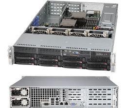 SC825TQ-R500W 2U WIO, 8sATA/SAS,slimCD,WIO,rPS 500W (80+ PLATINUM),černé