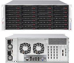SC846BE1C-R1K28B 4U eATX13,24sATA/SAS3(SAS3 exp.)+2SFF, rPS 1280W (80+ PLATINUM), černý