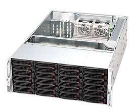 SC846E16-R1200 4U eATX13,24sATA/SAS2(SAS2 exp.), RearSlimCD, rPS 1200W (80+ GOLD), černý