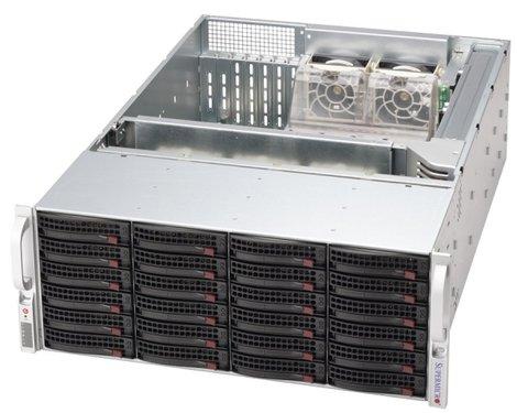 SC846E26-R1200 4U eATX13,24SAS2(dual SAS2 exp.), RearSlimCD, rPS 1200W (80+ GOLD), černý