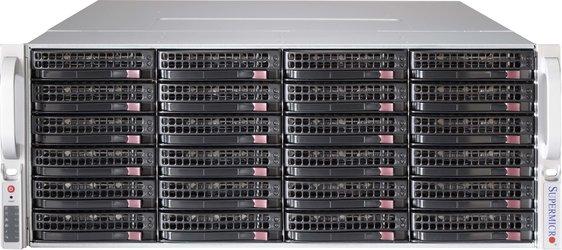 SC847E16-R1K28WB 4U WIO 24+12 sATA/SAS2 (SAS2 exp.), rPS 1280W (80+PLATINUM), WIO, black