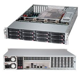 "SUPERMICRO 2U chassis 12x 3,5"" HS SAS/SATA (4x SFF 8087) + volitelný 2x 2,5"", 2x920W (80PLUS Gold)"