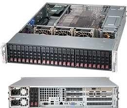 "SUPERMICRO 2U chassis 24x 2,5"" HS SAS/SATA (expander 1x SFF 8087), 2x92W, WIO"