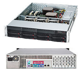 "SUPERMICRO 2U chassis 8x 3,5"" HS SAS/SATA, 600W (80PLUS Platinum), WIO"