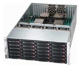 "SUPERMICRO 4U chassis 24x 3,5"" HS SAS/SATA,2x1620W (80PLUS Platinum 94%)"