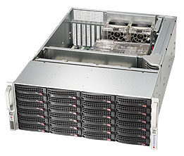 "SUPERMICRO 4U chassis 24x 3,5"" HS SAS/SATA (expander SAS2/6Gb - 1xSFF 8087)+2x2,5"" volitelný ,2x1280W (80PLUS Platinum)"