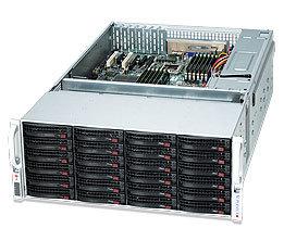 "SUPERMICRO 4U chassis 36x 3,5"" HS SAS/SATA (24x Front + 12x Rear, expand. SAS2/6Gb -1+1 SFF 8087) ,2x1280W (80PLUS Plat)"