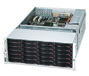 "SUPERMICRO 4U chassis 45x 3,5"" HS SAS/SATA (24x Frong + 21x Rear, Dual exp. SAS2/6Gb - 2x(1 + 1) SFF 8087) ,2x1280W(Pla)"