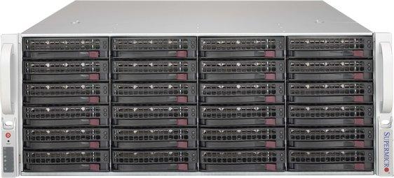 "SUPERMICRO 4U JBOD chassis 24x 3,5"" HS SAS/SATA (dual expander 4x SFF 8644 + IPMI), 2x1000W (80PLUS Platinum)"