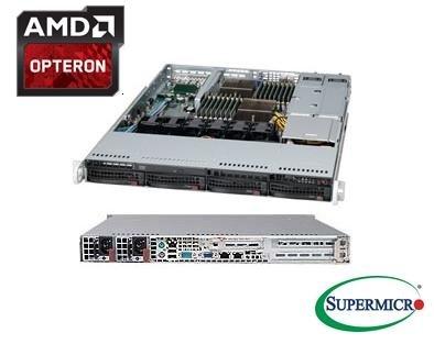 Supermicro AS-1022G-URF, 1U AMD 2x Socket G34, 4x SAS/SATA, DDR3, DVD-RW, 2x 700W (redundant)