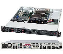 """Supermicro CSE-111TQ-563CB, 1U, 4x 2,5"""" SATA/SAS, 560W, black"""