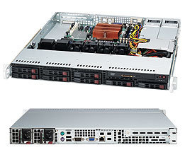 """Supermicro CSE-113MTQ-R400CB, 1U, 8x 2,5"""" SATA/SAS, 400W, black"""