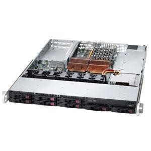 Supermicro CSE-113TQ-R650UB, 1U UIO 8SFF, slimCD, rPS 650W(80+), černý