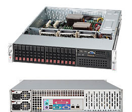"Supermicro CSE-213A-R720LPB, 2U, eATX 16SFF, 5,25"", slimCD, LP, 720W, černá"