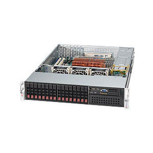 "Supermicro CSE-213A-R900LPB, 2U eATX 16SFF, 5,25"", slimCD, LP, 900W, černý"