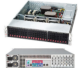Supermicro CSE-216E1-R900LP 2U eATX13 24SFF, noCD, LP, 900W, black