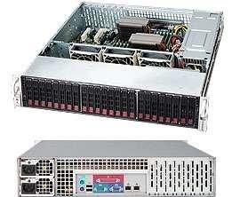 """Supermicro CSE-216E26-R1200LPB, 2U, 24x 2,5"""" SAS/SATA, 1200W, černý"""