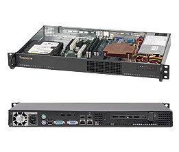 "Supermicro CSE-510-200B, mini1U, 1x 3,5"" SATA/SAS, 200W, black"