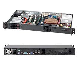 """Supermicro CSE-510T-200B, mini1U 9,6""""x9,6"""" 65Wcpu, 2SFF, 200W, 1PCI, černé"""
