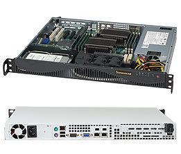"Supermicro CSE-512F-520LB, 1x 3,5"" SAS/SATA, 520W, black"