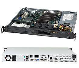 Supermicro CSE-512F-600B, 1U, 1x 3,5 SAS/SATA, 600W, černý