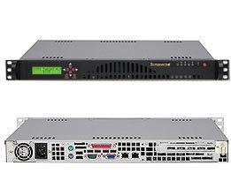 Supermicro CSE-512L-260B-LCD, mini 1U, černá