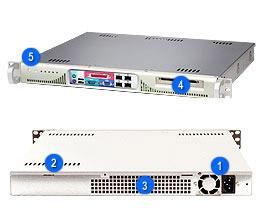 "Supermicro CSE-513F-260B, mini1U,1xfixed 3,5"" HDD,260W, black"