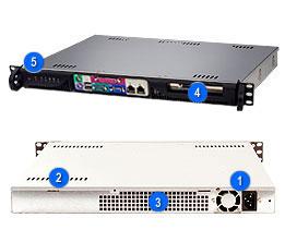 Supermicro CSE-513F-350B, mini1U ATX, 1HDD, 350W(24p), front I/O, black