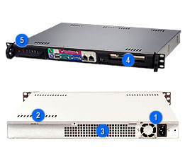 Supermicro CSE-513F-350B, mini1U ATX, 1HDD, 350W(24p), front I/O, černý