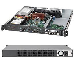 Supermicro CSE-515-280UB, mini 1U,1x fixed HDD, 280W