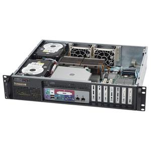 Supermicro CSE-523L-520 mini2U ATX 2HDD, slimCD, front I/O, LP, 520W, černé