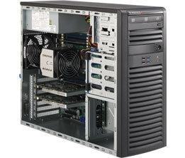 """Supermicro CSE-732D4-500B, mid-tower, 4x 3,5"""" SATA/SAS, 2x 5,25"""", 500W, černý"""