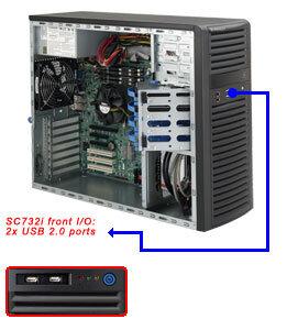 "Supermicro CSE-732I-500B, 4x 3,5"" SATA/SAS, 2x 5,25"", 500W, black"