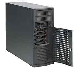 "Supermicro CSE-733TQ-645B, 4x 3,5"" SAS/SATA, 2x 5,25"", 645W, černý"