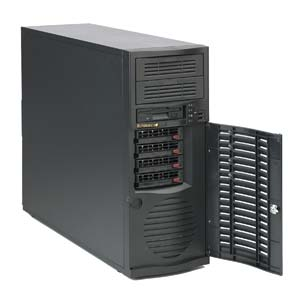 Supermicro CSE-733TQ-665B, MidiTower, 665W 4xSAS/SATA HotSwap,Super Quiet, černý