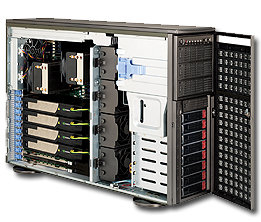 Supermicro CSE-747TQ-R1620B, 4U, dark gray