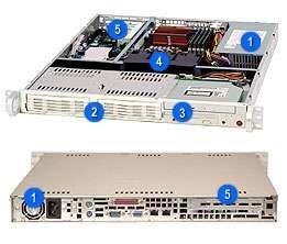"Supermicro CSE-811I-300B, 1U, 2x 3,5"" SATA/SAS, 300W, black"