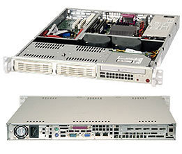 """Supermicro CSE-811i-520, 1U, 2x 3,5"""" SATA/SAS, 520W, béžový"""
