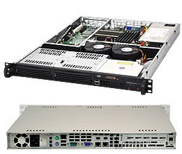 "Supermicro CSE-811L-600B, 1U, 2x 3.5"" SAS/SATA, 600W"