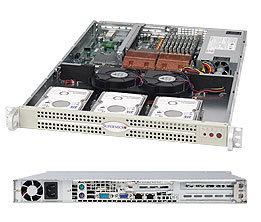 """Supermicro CSE-812L-520UB, 1U, 3x 3,5"""" SATA/SAS, 520W, černý"""