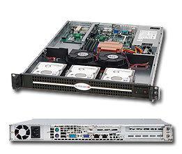 "Supermicro CSE-812L-600UB, 1U, 3x 3,5"" SATA/SAS, 600W, black"